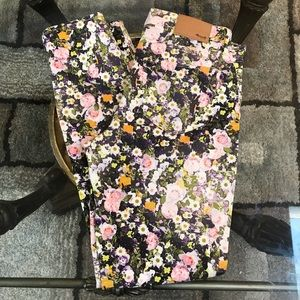 Madewell Skinny Ankle Floral Print Size Tag 26